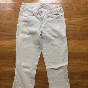 Levi's White Cropped Jeans